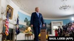 Дональд Трамп після заяви про вихід США з ядерної угоди з Іраном, Білий дім, Вашингтон, 8 травня 2018 року