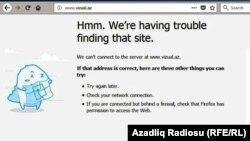 Vizual.az saytı bloklanıb (screenshot)