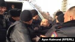 Задержания на митинге оппозиции, Алма-Ата, 22 февраля 2020 года