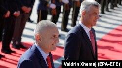 Presidenti i Shqipërisë, Ilir Meta dhe ai i Kosovës, Hashim Thaçi.