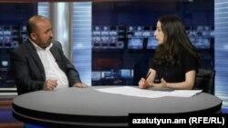 Թաթուլ Հակոբյանը «Ազատության» ստուդիայում: