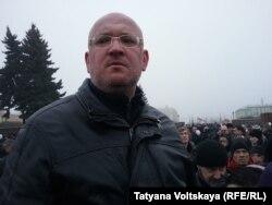 Максим Резник на акции против передачи Исаакиевского собора РПЦ