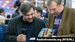 Прем'єра фільму «Плем'я», 11 вересня 2014 року. Мирослав Слабошпицький (ліворуч)