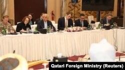 جریان گفتگوهای هیئت امریکایی با نماینده های گروه طالبان مسلح در دوحه پایتخت قطر. March 12, 2019