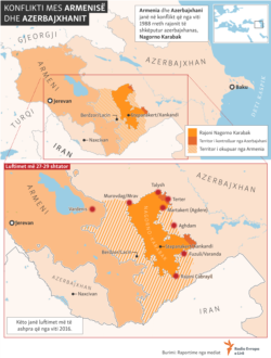 Info graphic: The conflict between Azerbaijan and Armenia (Albanian site)