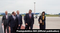 Predsjedavajući Predsjedništva Bosne i Hercegovine Milorad Dodik prilikom dolaska u Bjelorusiju