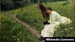 Герхард Мюнтэ, «Ідылія» (1886).