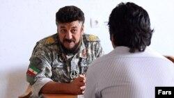 محمد ناظری فرمانده یگان تکاوری نیروی دریایی سپاه پاسداران.
