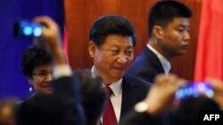 شی جینپینگ در مراسم خوشامدگویی در هتل وستین سیاتل