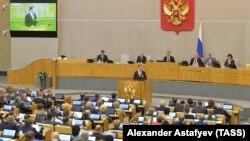 Dmitri Medvedev Rusiya Dövlət Dumasında