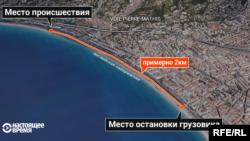 Место совершения теракта в Ницце