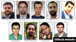 تصویر منتشر شده از افرادی که روز جمعه مورد تحریم قرار گرفتند.