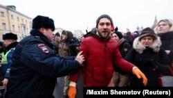 Задержания на акции 28 января в Москве, архивное фото