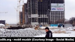 Uzbekistan/Russia - building where uzbek migrants worked