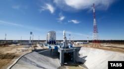 Ракета-носій «Союз-2.1а» на стартовому майданчику космодрому «Східний»