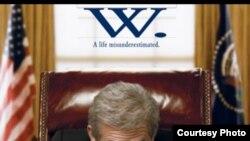 """""""W."""" Джорж Буш турындагы кинодан күренеш."""