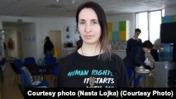 """Беларустагы """"Хьюман константа"""" укук коргоо уюмунун негиздөөчүсү Наста Лойка."""