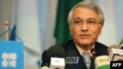 Алжир - OПЕКтин төрагасы Шакиб Келил жыйындан кийинки пресс-конференцияда,17 dec2008