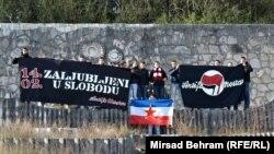 Članovi organizacije Antifašistička akcija na Partizanskom groblju u Mostaru