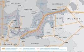 """Маршрут действующего газопровода """"Северный поток"""""""