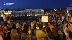 Thousands Protest In Skopje As Macedonia Sets Early Elections