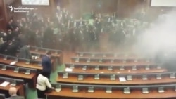 Tear Gas Again Disrupts Kosovo's Parliament