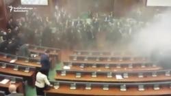 Tear Gas Again Disrupts Kosovo's Parliament