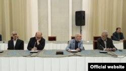 از سمت راست، حسن غفوری فرد، بهزاد نبوی، حمیدرضا جلایی پور، محمد سلامتی