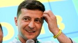 WATCH: Zelenskiy Celebrates After Exit Poll Result