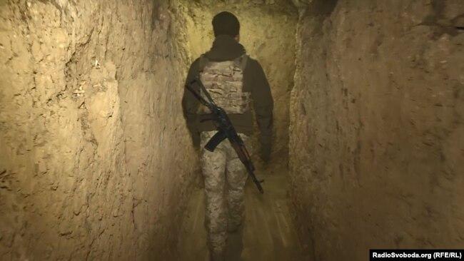 Военный блиндаж на админгранице с Крымом
