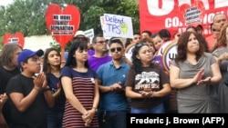 Пратэсты супраць адмены праграмы DACA ў Лос-Анджэлесе