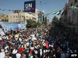 Skup podrške zahtjevu Palestinaca za priznanje nezavisnosti, Hebron, septembar 2011