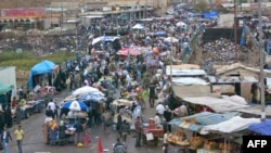 A market in the city of Kirkuk