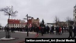 «Марш недармаедаў» у Горадні, які адбыўся 19 лютага