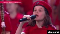 Rusiyada uşaqlar Putin üçün mahnı oxuyur.