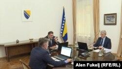 Željko Komšić, Milorad Dodik i Šefik Džaferović, članovi Predsjedništva BiH
