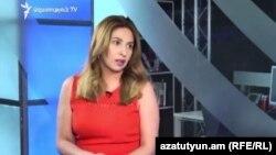 Заруи Постанджян в студии «Азатутюн ТВ» (архив)