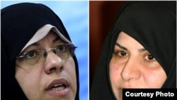 Fatemeh Ajorlou (left) and Marzieh Vahid Dastjerdi would be the first women to reach cabinet-level positions in govenrment since the Iranian Revolution.