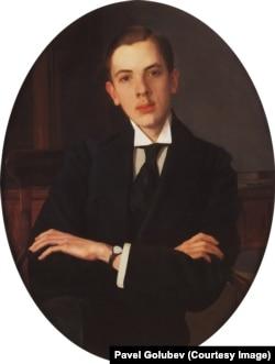 Портрет Е.С. Михайлова. 1916. Холст, масло. Эшмоловский музей, Оксфорд.