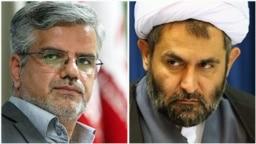 Iranian MP Mahmoud Sadeghi (L) and the head of IRGC's intelligence unit Hossein Ta'eb, undated.