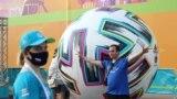 Euro 2020 football fan zone on Konyushennaya Square in St. Petersburg