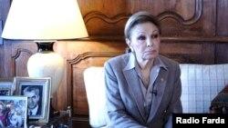 Radio Farda -- Iran's latest Queen Farah Pahlavi in aninterview with Radio Farda. File Photo
