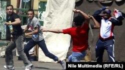 مصادمات في شارع محمد محمود بالقاهرة في عام 2012