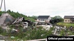 На месцы катастрофы пад Петразаводзкам