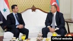 Azərbaycan - İlham Əliyev Suriya prezidenti Bashar al-Assad-lə görüşür. 2009