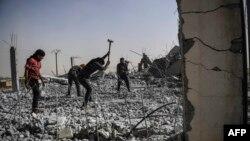 Сириядағы қираған аймақтардың бірі