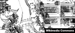 Нурхачи Ляояң шаарын камалоо маалында. 1621-жылдагы окуялар. Чийме сүрөт 1635-жылга таандык.