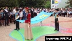 Бакчасарайдагы кырымтатар мәктәбе уку елын тәмамлый