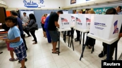 Голосование на избирательном участке в Калифорнии, ноябрь 2016 года