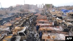Hundreds of trucks with supplies for troops in Afghanistan have been destroyed around Peshawar this month.